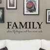 Nutmeg Wall Stickers Family Where Life Begins Wall Sticker