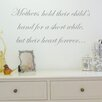 Nutmeg Wall Stickers Mother Holds Their Child's Hand Wall Sticker