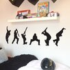 Nutmeg Wall Stickers 6 Piece Cricket Players Wall Sticker Set