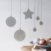 Nutmeg Wall Stickers Glitter Bauble Wall Sticker