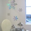 Nutmeg Wall Stickers 3 Piece Glitter Snowflake Wall Stickers Set