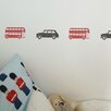 Nutmeg Wall Stickers 8 Piece London Taxi Set