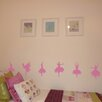 Nutmeg Wall Stickers 6 Piece Ballerina Silhouettes Set