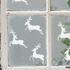 Nutmeg Wall Stickers 6 Piece Reindeer Wall Sticker Set