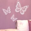 Nutmeg Wall Stickers 3 Piece Butterflies Wall Sticker Set