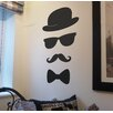 Nutmeg Wall Stickers Moustache, Glasses, Hat and Bow Tie Wall Sticker