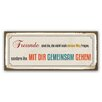 Cuadros Lifestyle Freunde sind Typography Plaque