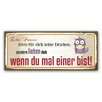 Cuadros Lifestyle Schild Echte Prinzen Typografische Kunst