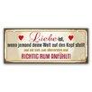 Cuadros Lifestyle Schild Liebe ist - 25 x 60 cm