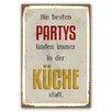 Cuadros Lifestyle Schild Partys Typografische Kunst