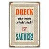 Cuadros Lifestyle Schild Dreck - 45 x 30 cm
