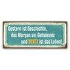 Cuadros Lifestyle Schild Heute - 25 x 60 cm