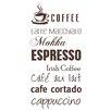 Cuadros Lifestyle Wandtattoo Coffee - Espresso - Cappuccino - …