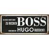 Cuadros Lifestyle Schild Boss Typografische Kunst