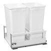 "Rev-A-Shelf 18"" Servo Double 50 Quart Pullout Waste Container"