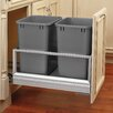 "Rev-A-Shelf 14.19"" Double 35 Quart Pullout Waste Container"