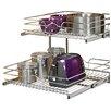 """Rev-A-Shelf 21"""" x 22""""  2 Tier Wire Basket Cabinet Organizer Rack"""