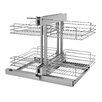 Rev-A-Shelf Corner Cabinet Pull-Out Chrome 2-Tier Basket Organizer