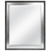 MCS Industries Concrete with Silver Leaf Beveled Wall Mirror