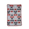 Carter's® Fire Truck Printed Coral Toddler Fleece Blanket