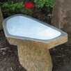 Stone Age Creations Large Granite Boulder Bird Bath