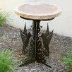 Hummingbird Silhouette Birdbath - Color: Gold - Stone Age Creations Bird Baths