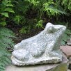American Bullfrog Statue - Size: 12 inch High x 24 inch Wide x 12 inch Deep - Stone Age Creations Garden Statues and Outdoor Accents