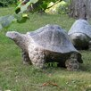 Granite Galapagos Tortoise Statue - Size: 8 inch High x 12 inch Wide x 6 inch Deep - Stone Age Creations Garden Statues and Outdoor Accents