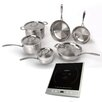 BergHOFF International EarthChef 6-Piece Professional Cookware Set with Silver Induction Stove (Set of 11)