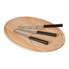 BergHOFF International Eclipse 4 Piece Oval Cheese Set