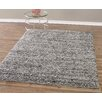 Diagona Designs Design Era Gray/Charcoal Modern Shaggy Area Rug