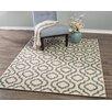 Diagona Designs Queen Beige/Teal Trellis Area Rug