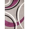 GP Rugs Havanna Silver/Purple Area Rug