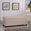 Bellasario Collection Classic Leather Storage Entryway Bench