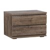 WerkStadt 2 Drawer Bedside Table