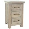Alpen Home Bearpaw 3 Drawer Bedside Table