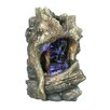 Fiber and Resin Tree Trunk Waterfall Fountain with LED Light - Hi-Line Gift Ltd. Indoor and Outdoor Fountains
