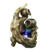Hi-Line Gift Ltd. Fiberglass and Resin Tree Trunk Fountain with Light