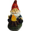 Hi-Line Gift Ltd. Gnome Sitting by Glowing Campfire Statue