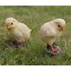 2 Piece Left and Right Looking Chicks Statue Set - Hi-Line Gift Ltd. Garden Statues and Outdoor Accents