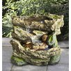 Hi-Line Gift Ltd. Polyresin Logs with Moss Waterfall Fountain with Light