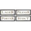 Nielsen Bainbridge Pinnacle 4 Piece Beer Pub Sign Wall Décor Set