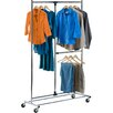 HoneyCanDo 203.2 cm H x 115 cm W x 19 cm D Dual Bar Adjustable Valet Stand