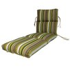 Comfort Clas Channeled Outdoor Sunbrella Chaise Cushion