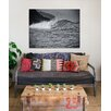 Kindred Sol Collective 'Wave' by Ed Fladung Photographic Print on Wrapped Canvas in Black and White