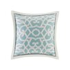 N Natori Fretwork Cotton Throw Pillow
