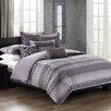 N Natori Abstract Stripe 4 Piece Comforter Set