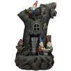 Polystone 3 Tier Gnome Home Tree Stump Outdoor Water Fountain - Northlight Indoor and Outdoor Fountains