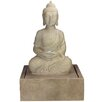 Polystone Praying Buddha Outdoor Water Fountain with Light - Northlight Indoor and Outdoor Fountains