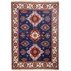 Theko Handgefertigter Teppich Kazak Imperial in Blau